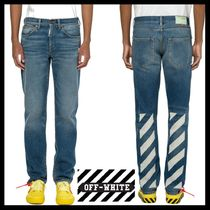 【OFFWHITE】DIAG SLIM JEANS/20SS/ブルー/ジーンズ/ロゴ/JEANS