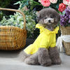 TOTO&ROY 洋服 ★犬服 韓国★愛犬 服★Dot Flower Hoody One-piece Yellow(3)