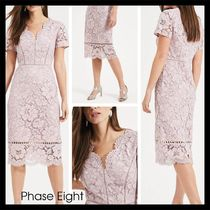 【Phase Eight】Trinity Corded Lace Dress ダスティローズ 半袖