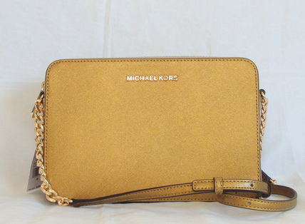 【1-2日到着】Michael Kors●LG EW CROSSBODY●OLD GOLD