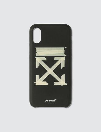 Off-White スマホケース・テックアクセサリー US発関税込み★Off-White★Tape Arrows iPhone X/Xs Case