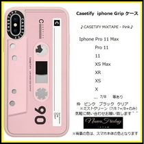 Casetify iphone Grip case♪CASETiFY MiXTAPE - Pink♪