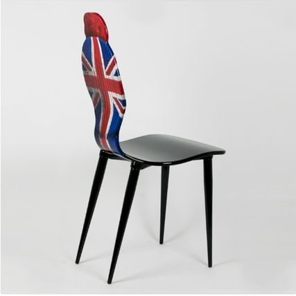 FORNASETTI 椅子・チェア FORNASETTI フォルナセッティ HAT AND FACE Union jack CAHIR(3)