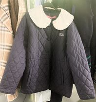 大人気 ★OiOi Collection★ FUR CAPE QUILT JACKET /NAVY