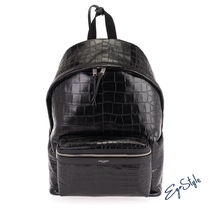 CROCODILE-EFFECT CITY BACKPACK