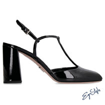 PATENT LEATHER T-STRAP PUMPS