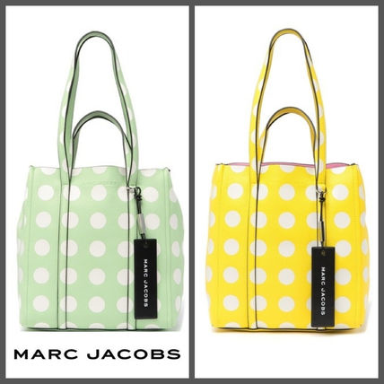 【MARC JACOBS】SALE!!!Dot Tag Leather Tote☆水玉柄トート☆