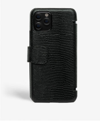 THE CASE FACTORY スマホケース・テックアクセサリー The Case Factory★iPhone 11 PRO LIZARD カードケース付 レザー(2)