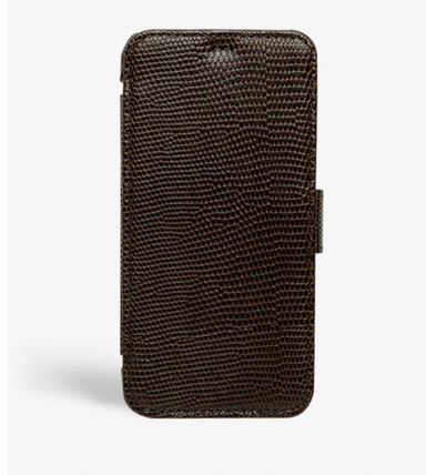 THE CASE FACTORY スマホケース・テックアクセサリー The Case Factory★iPhone 11 PRO LIZARD カードケース付 レザー(3)