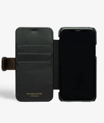 THE CASE FACTORY スマホケース・テックアクセサリー The Case Factory★iPhone 11 PRO LIZARD カードケース付 レザー(4)