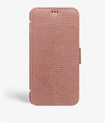 THE CASE FACTORY スマホケース・テックアクセサリー The Case Factory★iPhone 11 PRO LIZARD カードケース付 レザー(6)