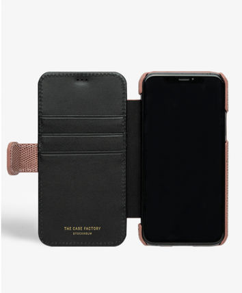 THE CASE FACTORY スマホケース・テックアクセサリー The Case Factory★iPhone 11 PRO LIZARD カードケース付 レザー(7)