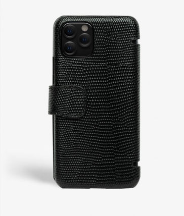 THE CASE FACTORY スマホケース・テックアクセサリー The Case Factory★iPhone 11 PRO LIZARD カードケース付 レザー(8)