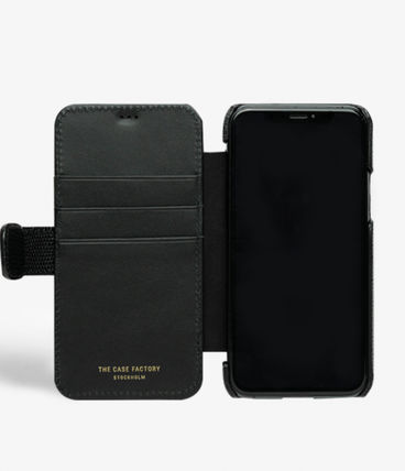 THE CASE FACTORY スマホケース・テックアクセサリー The Case Factory★iPhone 11 PRO LIZARD カードケース付 レザー(10)