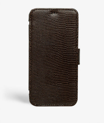 THE CASE FACTORY スマホケース・テックアクセサリー The Case Factory★iPhone 11 PRO LIZARD カードケース付 レザー(12)
