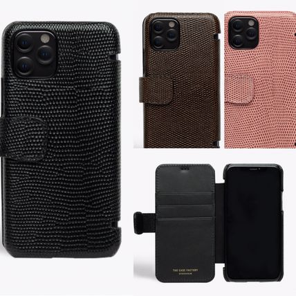 THE CASE FACTORY スマホケース・テックアクセサリー The Case Factory★iPhone 11 PRO LIZARD カードケース付 レザー(13)