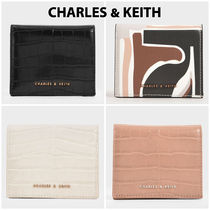 20SS【Charles&Keith】クロコ調型押コンパクト財布/送料込