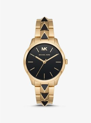 Michael Kors アナログ腕時計 【SALE☆】Michael Kors RUNWAY MERCER GOLD AND ONYX MK6699(3)