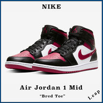 "【Nike】入手困難 人気 Air Jordan 1 Mid ""Bred Toe"""