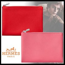 HERMES カーフスキン アセット 14 キット ポーチ 2color