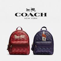 【COACH】VALE MEDIUM CHARLIE BACKPACK ロゴプリント F82358