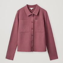 """COS"" ORGANIC COTTON CARDIGAN DARKPINK"
