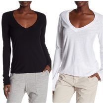 [ JAMES PERSE ] Long Sleeve Relaxed V-Neck Shirt