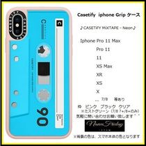 Casetify iphone Grip case♪CASETiFY MiXTAPE - Neon♪