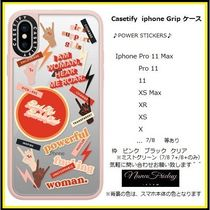 Casetify iphone Grip case♪POWER STICKERS♪