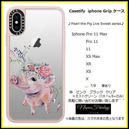 Casetify iphone Grip case♪Pearl the Pig Live Sweet series♪