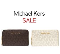 Michael Kors* ウォレット Small Logo and Leather Wallet