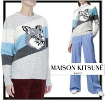 関税込★MAISON KITSUNE★FOX HEAD STRIPES プルオーバー