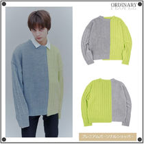 ORDINARY PEOPLE(オーディナリーピープル) ニット・セーター ORDINARY PEOPLEのColor-texture mixed sweater