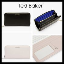 【Ted Baker】Elenti Zip Around Leather Purse 長財布 黒 pink