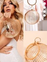送関税込★ASOS DESIGN Luxe cage sphere clutch パーティバッグ