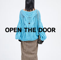 OPEN THE DOOR handmade mohair loose knit (4 color) - woman
