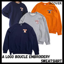 ACOVER(オコボ) Tシャツ・カットソー [ACOVER] A LOGO BOUCLE EMBROIDERY SWEAT SHIRT★韓国の人気★