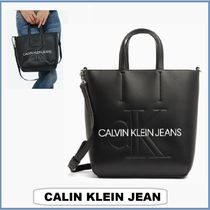 ★CALVIN KLEIN JEANS☆SCULPTED モノグラム ミニトートーバッグ