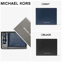 【Michael Kors】Crossgrain Leather Billfold Wallet