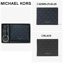 【Michael Kors】Logo Slim Billfold Wallet With Keychain