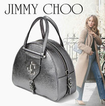 20SS[Jimmy Choo] VARENNE BOWLING メタリック ボーリングバッグ