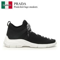 Prada knit logo sneakers