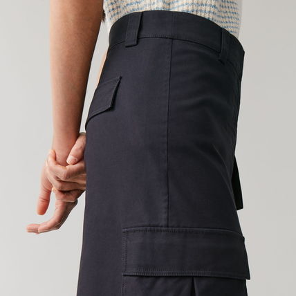 "COS スカート ""COS"" COTTON SKIRT WITH PATCH POCKETS NAVY(3)"