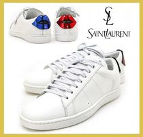 Saint Laurent★Lips patch leather sneakers white (EMS謝恩品)
