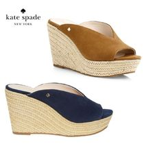 【kate spade】Thea Suede Espadrille Wedged Sandals/サンダル