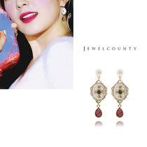 Red Velvet 着用★JEWELCOUNTY★E1238-1 Natural Pearl Red Drop