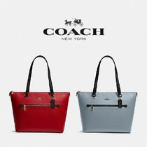 【COACH】GALLERY TOTE IN COLORBLOCK 上品レザー F82133