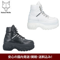 NAKED WOLFE  7cmヒール レースアップショートブーツ
