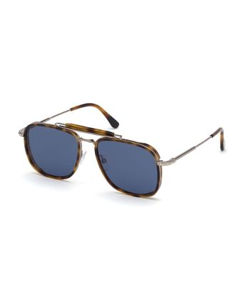 TOM FORD サングラス 【関税・送料無料】Men's Huck Metal Aviator Sunglasses