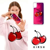 ★KIRSH★ BIG CHERRY GRADATION WATER IPHONE CASE JS /VIOLET